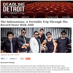 The Infatuations Featured in Deadline Detroit