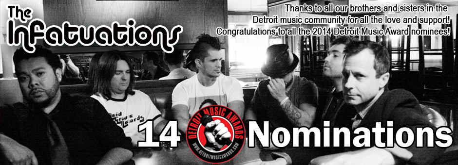 The Infatuations Nominated for 14 Detroit Music Awards